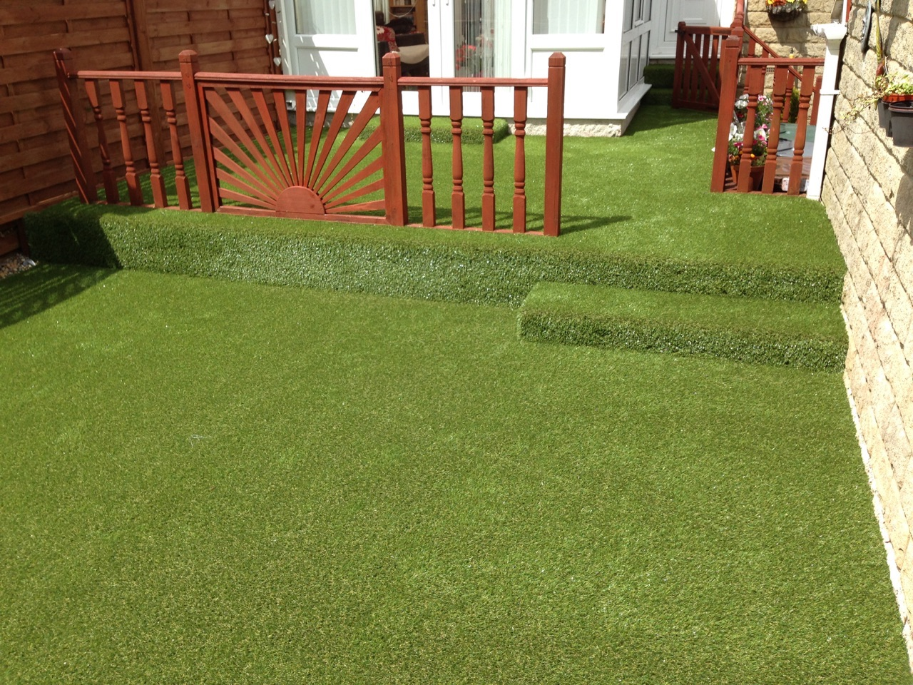 Artificial grass the grass is always green winder carpets and beds